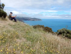 Daan enjoying the view in Makara