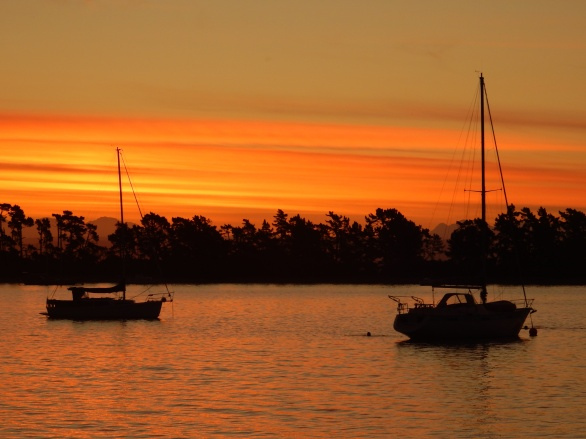 Sunset at Nelson Wharf