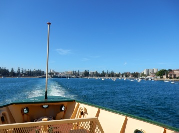 With the ferry to Manly Beach