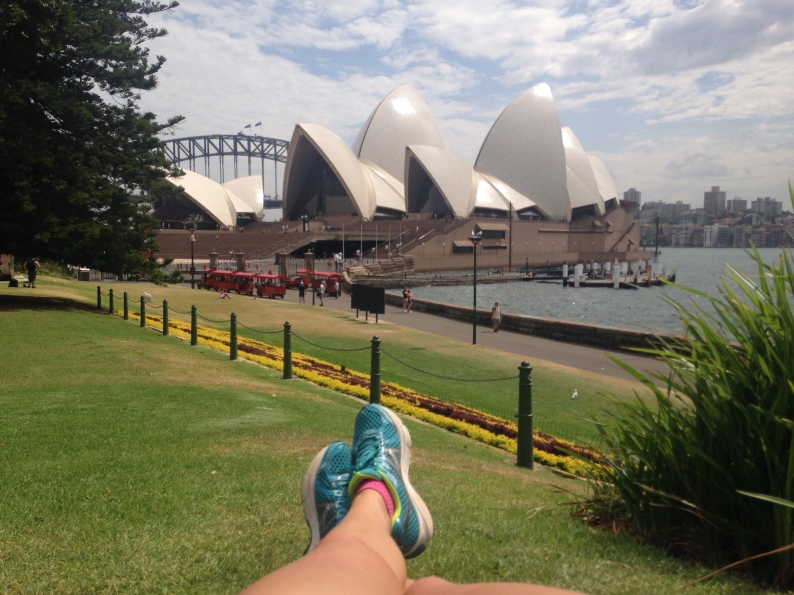 Why not: running to the Opera House!