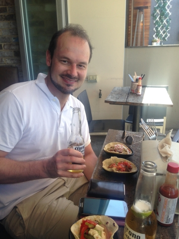 Mexican lunch with Gijs!
