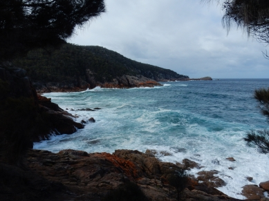 Stormy weather at the campsite in Freycinet!