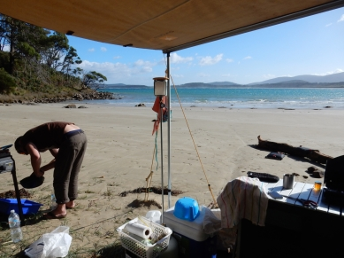 Camping ON the beach!!