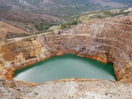 Lake in Copper Mine near Queenstown