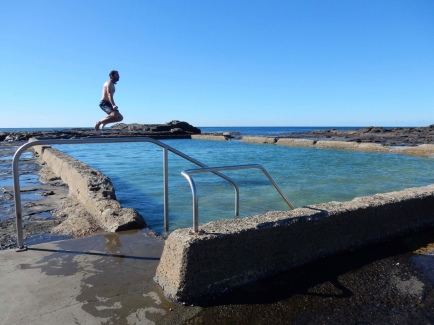 Freezing cold Rock Pool