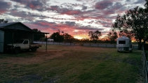 Sunset by the house