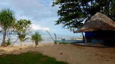 The beach view at Sanctuary