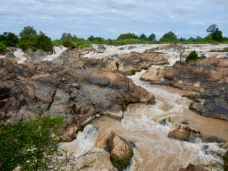 The waterfall on Don Khon