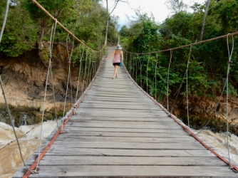 The bridge to the waterfall on Don Khon